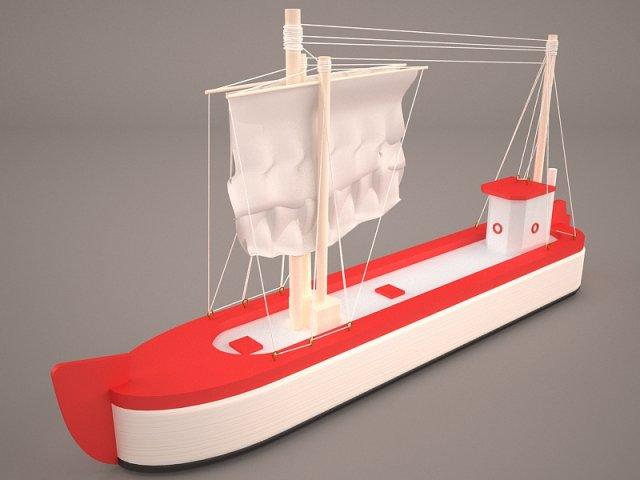 Cartoon Ship 3D Model