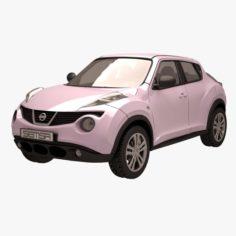 Nissan Juke 01 Pink 3D Model