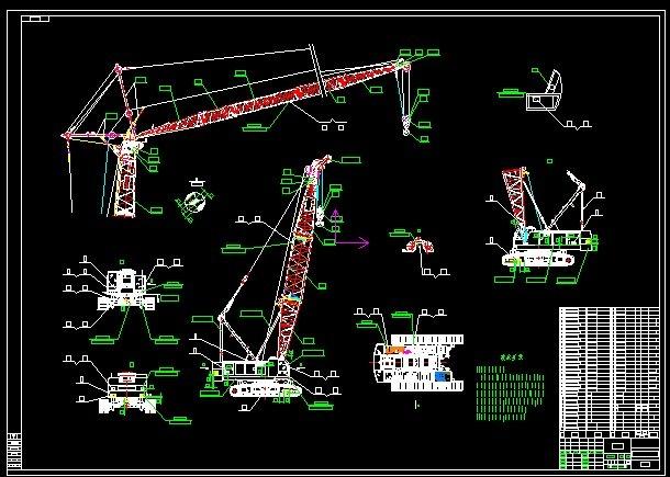 90T hydraulic crawler crane 3D Model