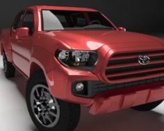 Toyota Tacoma 2016 Long 3D Model