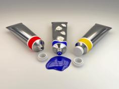 Paint tubes 3D Model