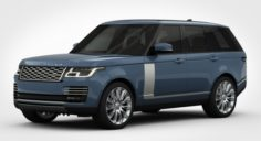 Range Rover Autobiography 2018 detailed interior 3D Model