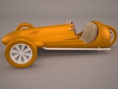 Wheeler Car 3D Model