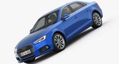 Audi A4 2016 detailed interior 3D Model