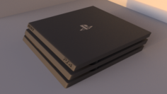 Ps4 pro with logos 3D Model