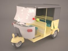 Bajaj Jakarta 3D Model