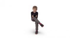 Boy With Gadget 3D Model