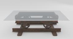 Railroad Cart Coffee Table 3D Model
