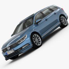 Volkswagen Passat Variant 2015 detailed interior 3D Model