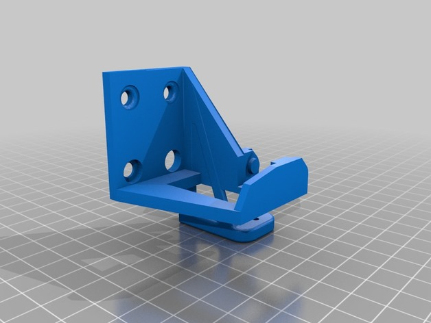 Anet A8 Extruder chain and BL touch mount 3D Print Model