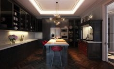 Classic Kitchen O1 3D Model