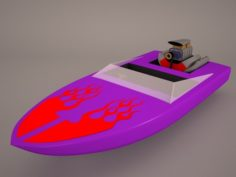 Classic Motorboat 3D Model