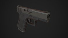 Glock 19 Low Poly 3D Model