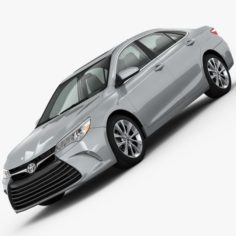 Toyota Camry XLE 2015 detailed interior 3D Model