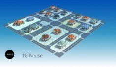 A group villa 3D Model