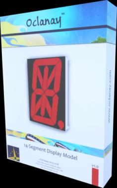 14-Segment Display Model 3D Model
