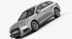 Audi A4 Avant 2016 detailed interior 3D Model