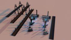 Sici-fi CITY Package 2 3D Model