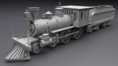Old steam locomotive 3D Model