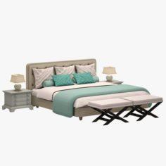 Bed Set 06 3D Model