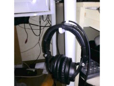 Headphone hook for 40mm pipe 3D Print Model