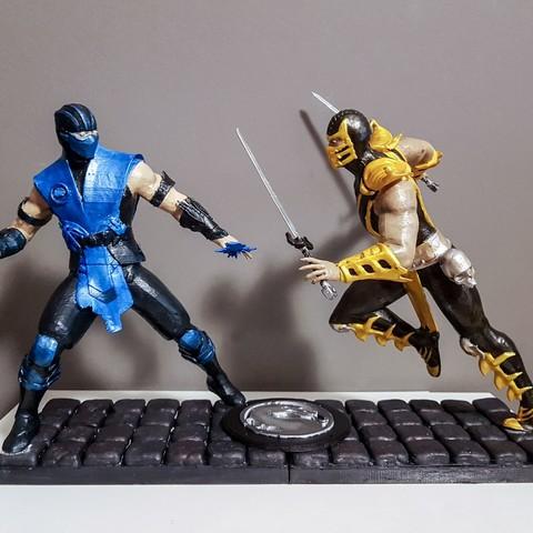 Diorama Mortal Kombat 3D Print Model