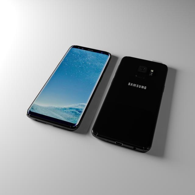 Samsung S8 2018 3D Model