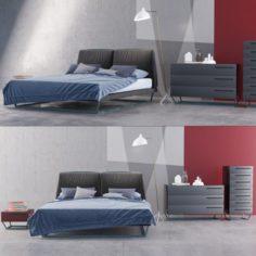 Bed Bonaldo Amlet 3D Model