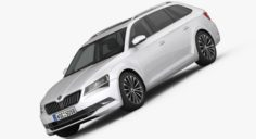 Skoda Superb Kombi 2016 detailed interior 3D Model