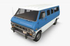 Retro Van 3D Model