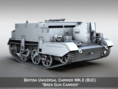 Universal Carrier MK2 – Bren Gun Carrier 3D Model