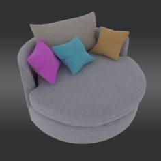 Hampton Sofa 3D Model
