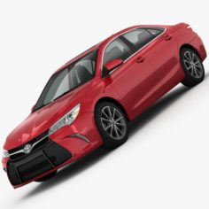 Toyota Camry XSE 2015 detailed interior 3D Model