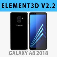 E3D – Samsung Galaxy A8 2018 Black model 3D Model