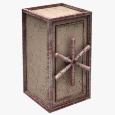 Safe Box Dirty 3D Model