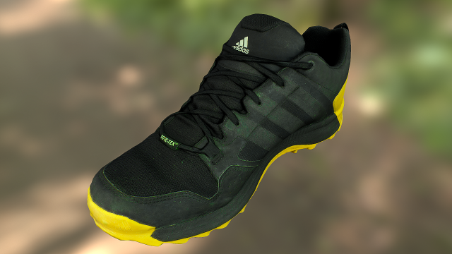 Adidas sneaker shoe low-poly 3D Model - 3DHunt co