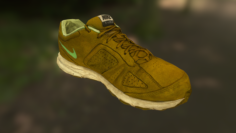 Worn Nike shoe low poly 3D Model