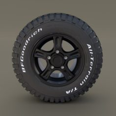 Offroad Alloy Wheel 3D Model