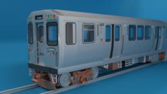 Chicago L Subway train 3D Model