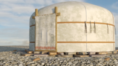 Yurt felt house 3D Model