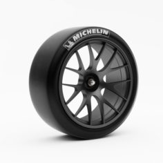 Wheel Racing BBS with Slik Tire 3D 3D Model