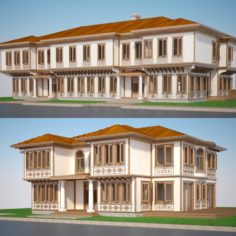 Modern Turkish House Set 3D Model