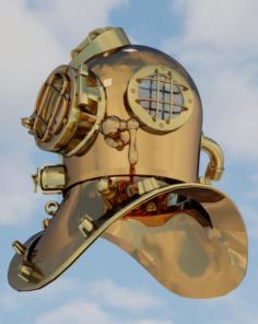 Divers Helmet 3D Model