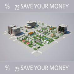 City 01 HIGHPOLY MODEL 3D Model