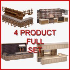 Bar Furniture Set 01 3D Model