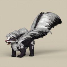 Game Ready Animal Skunk 3D Model