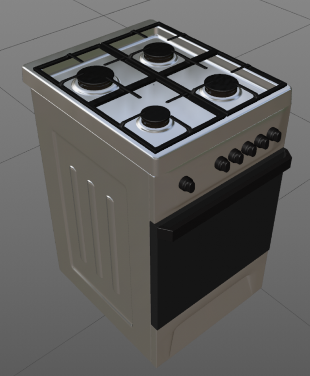 Gas stove Free 3D Model