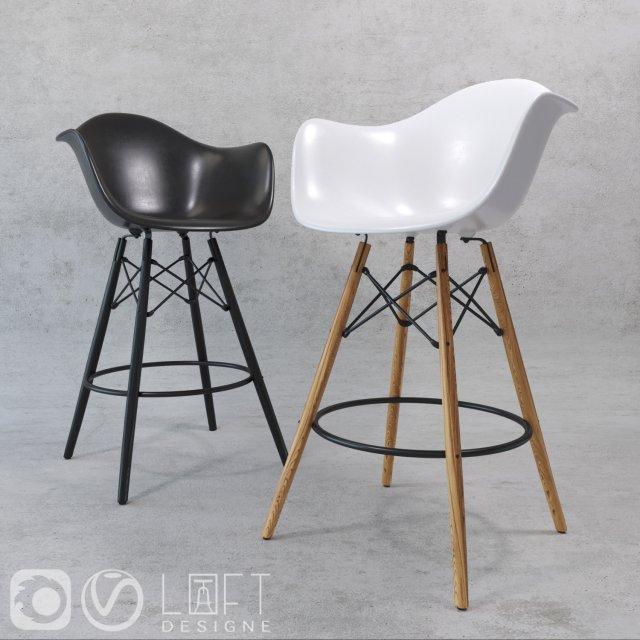 Barstools Loftdesigne model 3561 3562 3754 3755 3D Model