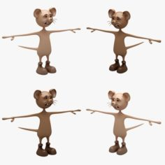 Cartoon Mouse 01-02 RIGGED T-POSE 3D Model