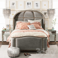 VERSAILLES UPHOLSTERED BED                                      3D Model